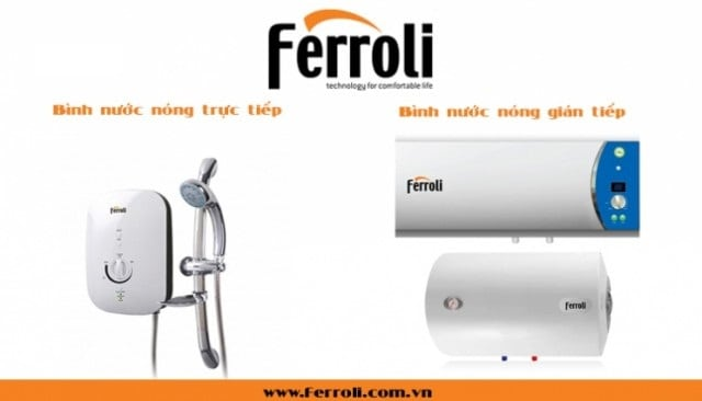 Bình nước nóng nằm ngang Ferroli