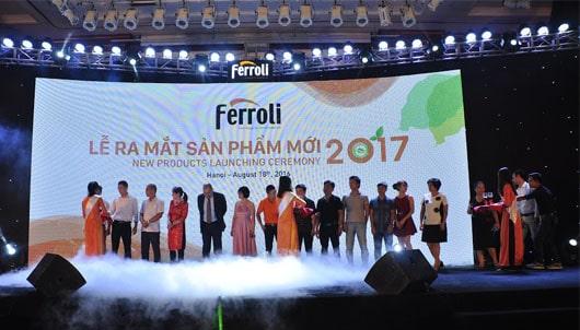 Ferroli tổ chức thành công Lễ ra mắt sản phẩm mới 2017