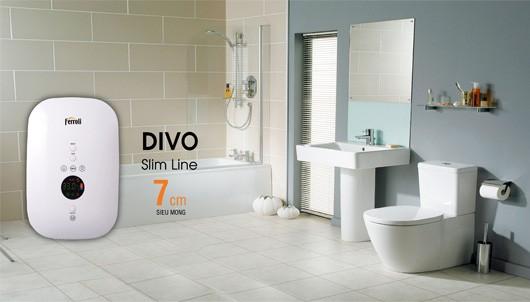 Giải pháp nước nóng cho phòng tắm hẹp