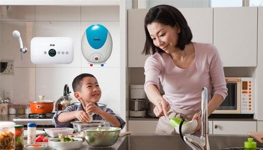 Nên chọn bình nước nóng nào cho nhà bếp?