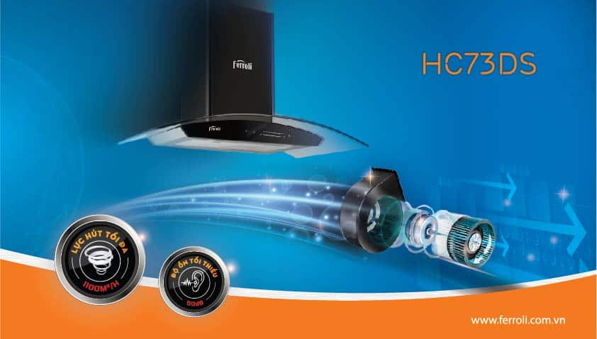 Máy hút mùi động cơ DC của Ferroli có ưu điểm gì?
