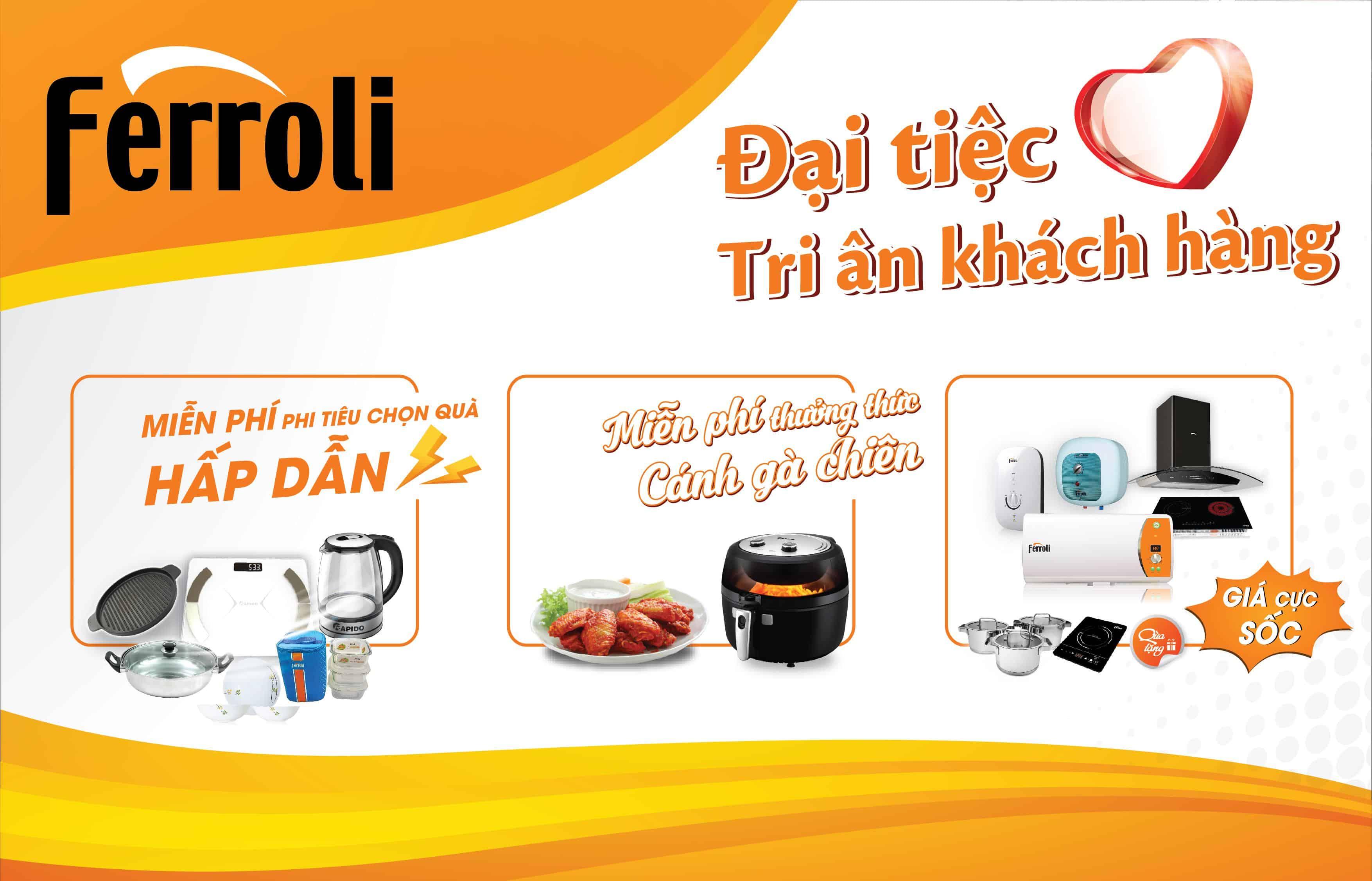 Đại tiệc tri ân FERROLI dành riêng cho hệ thống siêu thị Pico, Nguyễn Kim và Mediamart tại Hà Nội